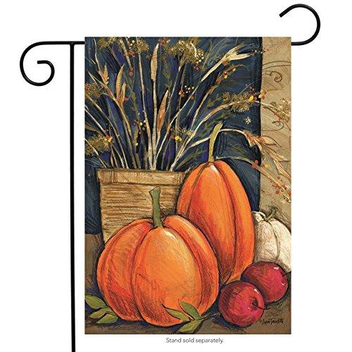 Fall Abundance Garden Flag Pumpkins Thanksgiving Autumn 12.5
