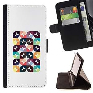 For Samsung Galaxy S5 V SM-G900 Case , Modelo abstracto Poli Arte Polígono Blanca- la tarjeta de Crédito Slots PU Funda de cuero Monedero caso cubierta de piel