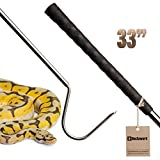 "DocSeward Snake Hook, Copperhead Series™ for Snakes Small to the Size of a Ball Python, Stainless Steel & Copper, Cage Length (33"") STD"