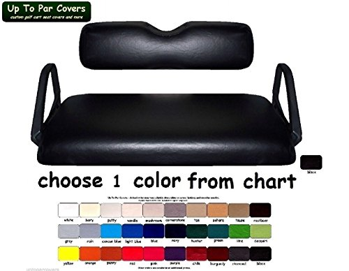 E-Z-Go TXT Custom Golf Cart Seat Cover Set Made with Marine Grade Vinyl - Staple On - Choose Your Color From Our Color Chart! by Up To Par Covers