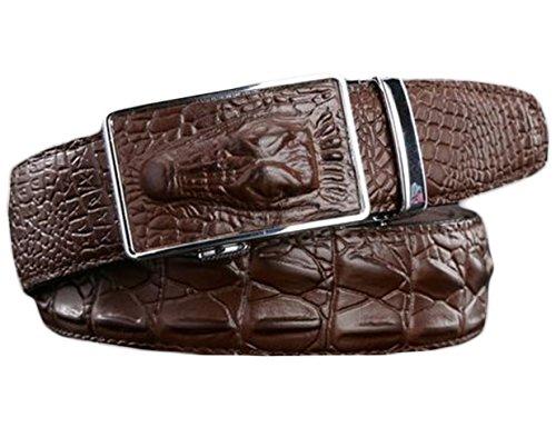 [해외]Ayli 남자의 진짜 가죽 래 칫 벨트 악어 스네이크 스킨 양각 / Ayli Men`s Genuine Leather Ratchet Belt Alligator Snakeskin Embossed