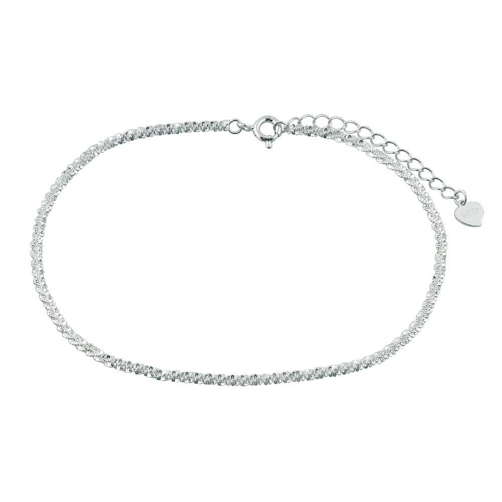 Charmed Craft 925 Sterling Silver Simple Chain Anklet Bracelet CA_BR_XGSS31