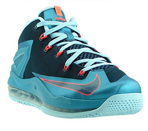 Nike Mens Max Lebron Xi Scarpe Da Basket Basse Turbo Verde / Nghtshade-ghiacciaio Ghiaccio-laser Cremisi