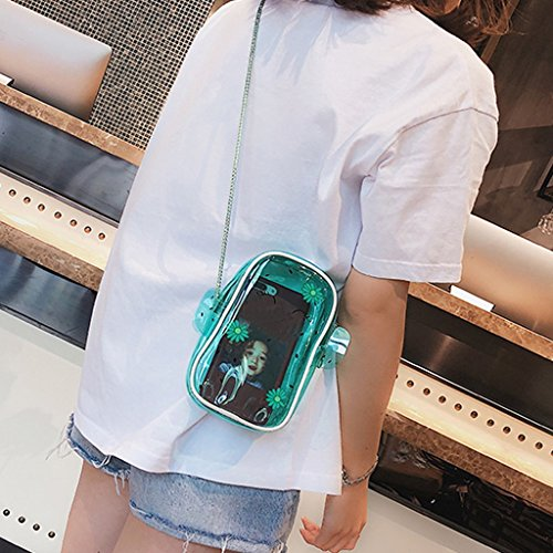 ZCM Phone Bag Jelly Messenger Fashion Bag Small Simple Women's Bag Mobile Cactus Mini Portable Fresh Transparent O4rOTq7w