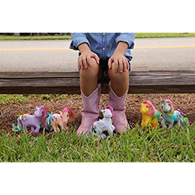 Basic Fun My Little Retro Rainbow Pony Gift Set-Parasol, Moonstone, Skydancer, Windy, Starshine: Toys & Games