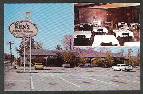 Ken's Steak House Route 9 Framingham MA postcard 1960s at