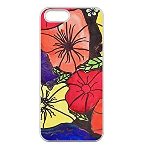 Abstract Flower in Three Original Colors Picture Made for iPhone 6 4.7 Only Case Cover 100% TPU Kimberly Kurzendoerfer