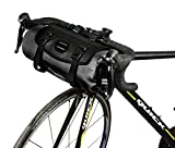 Roswheel 100% Waterproof Bike Handlebar Bag 7L Cycling Bicycle Mountain Road MTB Bike Front Top Frame Pouch With Rollable Opening Made of Polyester With Bicycle Front Light Interface