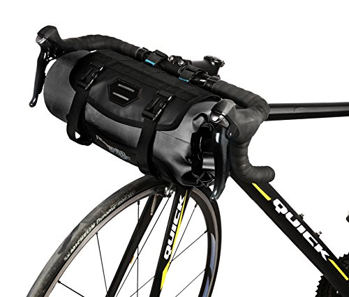 Roswheel Attack Series 111369 Waterproof Adjustable Capacity Bike Bicycle Cycling Handlebar Bag Detachable Dry Pack, Black by Roswheel