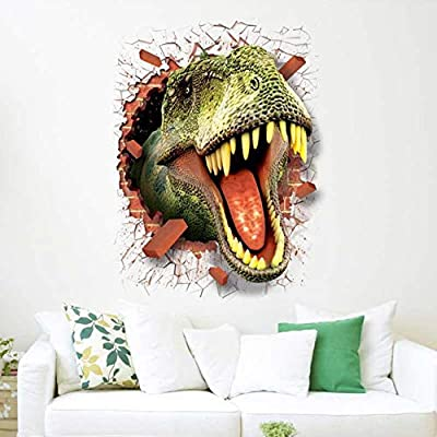 Anpay 3D Dinosaur Wall, Broken Wall, Creative Stickers, Suitable for Children's Room, Bedroom Background Decoration Wall: Arts, Crafts & Sewing
