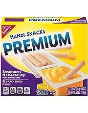 Handi Snacks Premium Breadsticks 'n Cheese Dip, 6 Packs, 6.54 Ounce