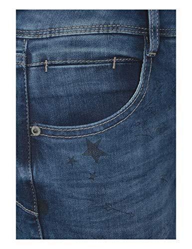 Street Blau Bleach Random Donna 11513 Slim Blue printed Jeans One 4Irq4S