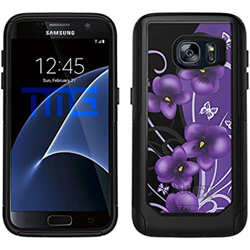 OtterBox Commuter Samsung Galaxy S7 Case - Twilight Petunias on Black OtterBox Case Sales