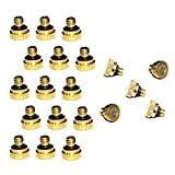 EONBON 20pcs/Pack 0.016'' Orifice (0.4mm) Thread UNC 10/24 Brass Misting Nozzles For Outdoor Cooling System, Low Pressure Greenhouse Mosquito Water Stainless Steel Mist Nozzle For Fog Spray Nozzle