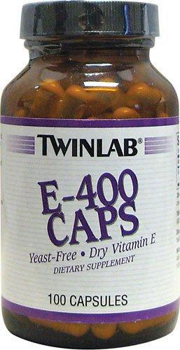 TWINLAB E-400 IU DRY,YEAST FREE, 100 CAP by Twinlab