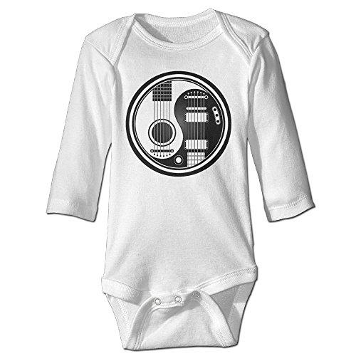 Acoustic Guitars Yin Yang Long Sleeve Baby Bodysuits (Epiphone Artist)