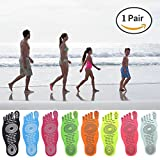 Men Women and Kids Sticker Adhesive Foot Pads Stick On Soles Flexible Feet Protection ,Socks For Exercise Beach Pool Feet , Non Slip Yoga Socks
