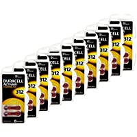 Duracell Hearing Aid Batteries Size 312 pack 60 batteries, Model: Size 312, Gadget & Electronics Store