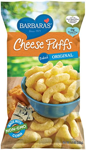 Barbara's Bakery Cheese Puffs, Baked Original, 5.5 Ounce (Pack of 12) (Cheese Corn Puffs)