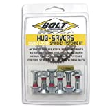 Bolt Motorcycle Hardware (2008-HS.S) Silver Hub-Savers Sprocket Fastener