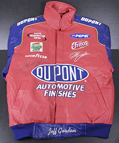 New! Men's NASCAR Jeff Gordon #24 DuPont & Flames Heavyweight Cotton Drivers Racing Jacket (2XL)