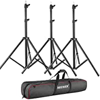 Neewer 3 Pieces 75/6 Feet/190CM Photography Light Stands Kit with 31/80cm Light Stand Bag for Reflectors, Softboxes, Lights, Umbrellas, Backgrounds