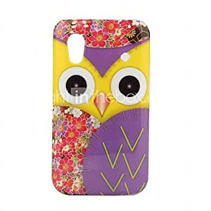 Purple Owl Pattern Hard Case for Samsung Galaxy Ace S5830