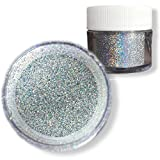 Silver Hologram Dazzler Dust 5g Jar | Bakell Non-Toxic Decorating Glitters & Dusts