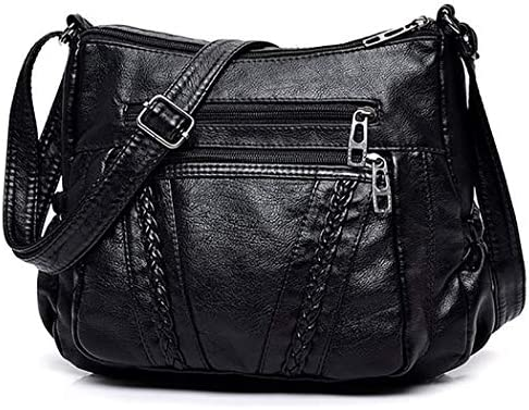COAFIT Womens Satchel Bag Casual Embroidery Artificial Leather Shoulder Bag