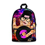FOR U DESIGNS Cute Pet Cat Print Casual Student Middle School Bag for Teen Girls