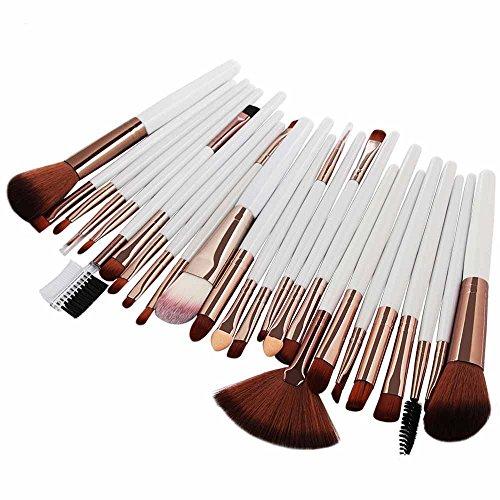 OTTATAT 2019 Newest Discount 25pcs Cosmetic Makeup Brush Blusher Eye Shadow Brushes Set Kit airbrush finish (golden make brushes 12pcs cosmetic 32pcs eyes cream a portable kit