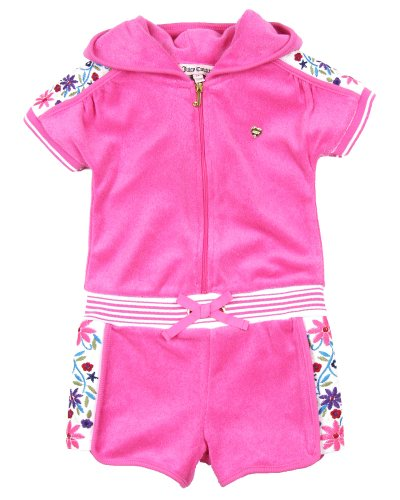 Juicy Couture Baby and Toddler's Terry Hooded Romper (4T) (Juicy Couture Hooded Terry)