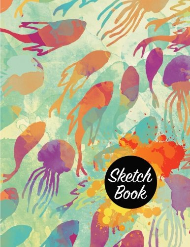 """Sketch Book: Notebook Sketchbook, Paper Book for Sketching, Drawing, Journaling & Doodling (Sketchbooks), Perfect Large size at 8.5"""" x 11"""", 120 Pages, Fish in The Sea Cover ebook"""