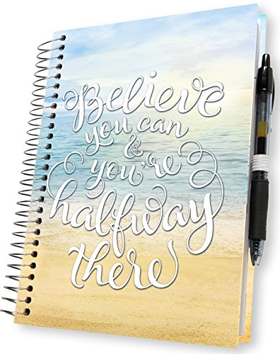 Planner 2018-2019 Academic Year Calendar - 5x8 Hardcover - 15 Months Dated April 2018 to June 2019 - Daily Weekly Monthly Spiral Hardbound Planner - Pages in Color with Tabs | by Tools4Wisdom Planners