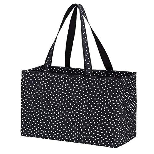 - Fashion Print Ultimate Tote Bag (Monogrammed Black Polka Dot)