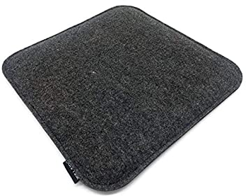 412e94c81f411 Welaxy Felt seat Cushion for Eames Chair DSW Pads for Office Indoor Home  Dining Kitchen (Square) (Grey+ Charcoal)