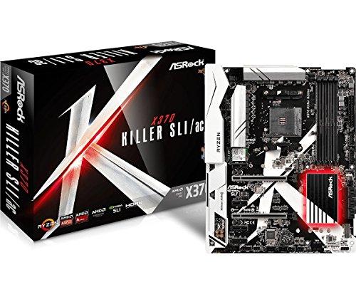 ASRock X370 Killer SLI/ac AM4 AMD Promontory X370 SATA 6Gb/s USB 3.0 HDMI ATX AMD Motherboard
