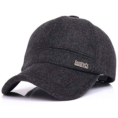 483d00593 King Star Mens Winter Wool Woolen Tweed Peaked Earflap Baseball Cap ...