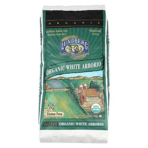 Lundberg Family Farms Organic California White Arborio Rice - Case of 25 - 1 lb. by Lundberg