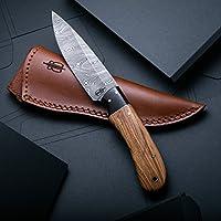 Buck n Bear Custom Handmade Fixed Blade Damascus Hunting...