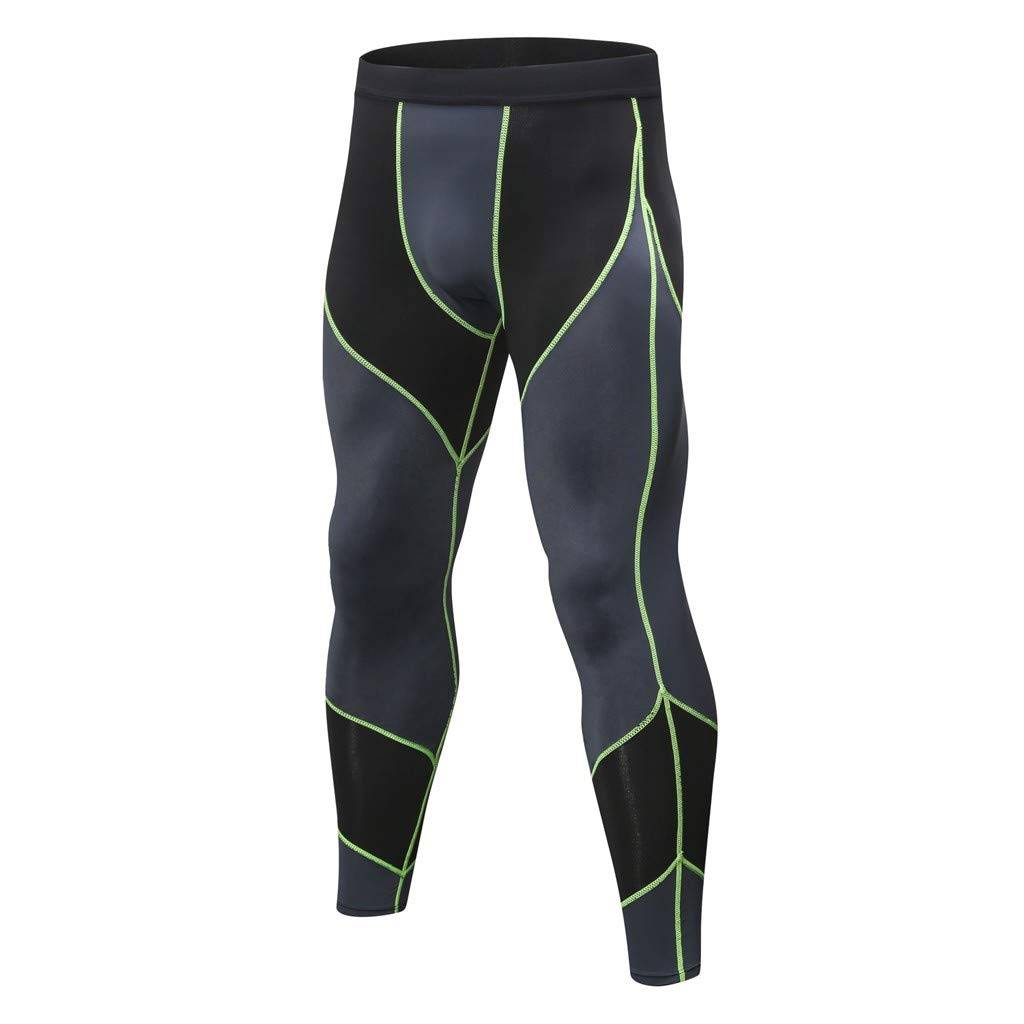 STORTO Mens Summer Stretched Pants Gym Bodybuilding Quick Dry Printed Workout Fit Soft Pants