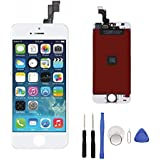 iPhone 5S Screen LCD Replacement,LCD Touch Screen Display Screen Digitizer Repair Assembly with Tools White
