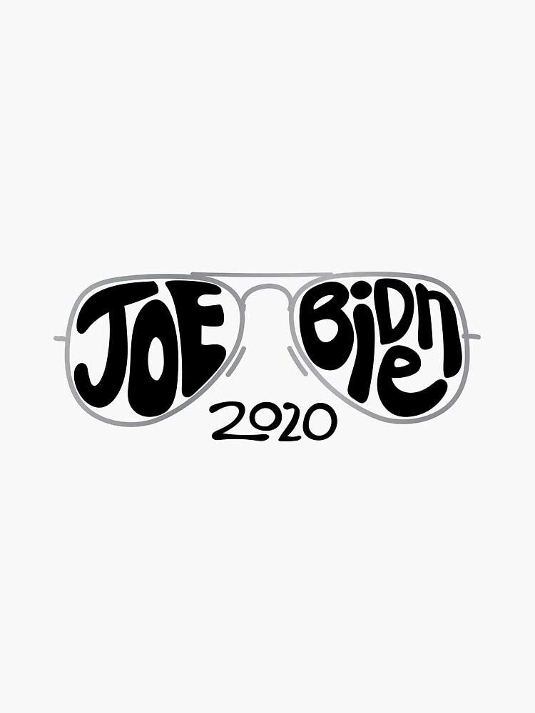 MAGNET Joe Biden 2020 Sunglasses Hand Drawn Illustration Magnetic Vinyl Car Bumper Sticker 5 President