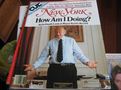 New York Magazine (Mayor Ed Kock...How Am I Doing ? , 2 1/2 Years In Office , Mid-Life Maternity Blues , The Best BROWNIES In Town,) (Best Brownies In New York)