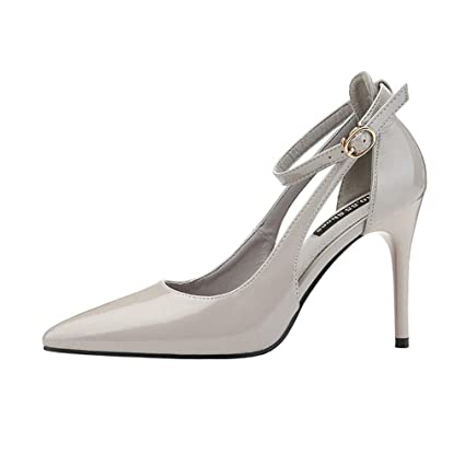 6dbe2f279d5b5 Amazon.com: YXB Women's High Heel PU Pointed Toe Stiletto Dress ...