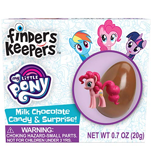 Finders Keepers My Little Pony Milk Chocolate Candy Egg & Toy Surprise, 0.7 oz (Pack of 6) (My Little Pony Chocolate Eggs)