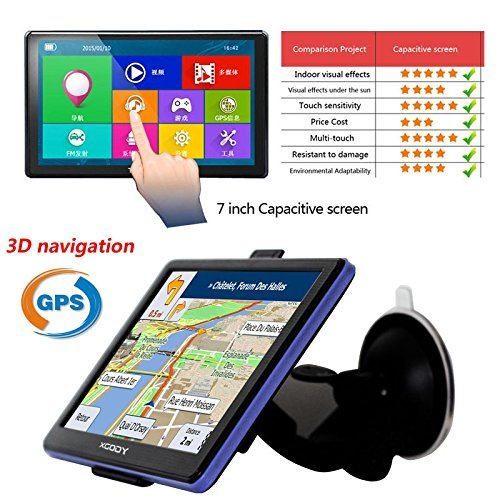 New 7 Inch Hd Car GPS Navigation Bluetooth Fm 8GB/256MB Ddr/800mhz Map Free Upgrade Russia/Belarus/Spain/ Europe/Usa+Canada/Israel