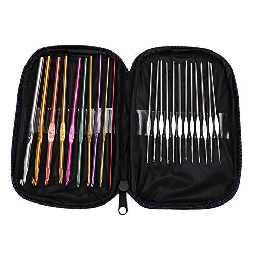 22pcs-aluminum-crochet-hooks-needles-knit-weave-craft-yarn-sewing-tools-knitting-needles-accessories-ganchos-de-croche