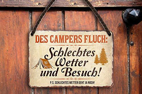 """51Jwp2W8pdL schilderkreis24 – Blechschild Lustiger Spruch """"des Campers Fluch"""" Deko Metallschild Geschenkidee Retro Camper Wohnwagen…"""