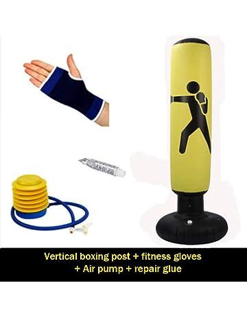 Juguete Antiestr/és 145cm Dough.Q Ni/ños Saco Boxeo Negro-Rojo Punching Ball Hinchable PVC Boxing Infantil